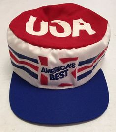 2f4d2b8af4e Vtg Americas Best Painters Cap Made in the USA Fram Autolite Patriotic Cap  Oil  Upstream
