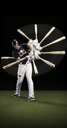 Swing, batter, batter...  #redbull