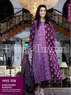 Best 10 Gul Ahmed #Winter #Collection 2013-14 – Magazine Vol 2