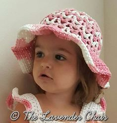 Valeries Summer Sun Hat Infant-Child - Free Crochet Pattern - The Lavender Chair