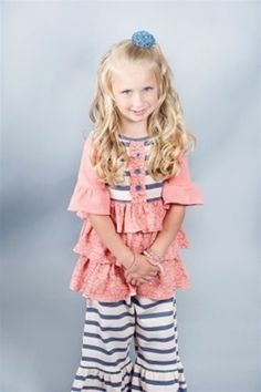 I love the big pants and the ruffles. @Taylor Joelle Designs #tjback2school.