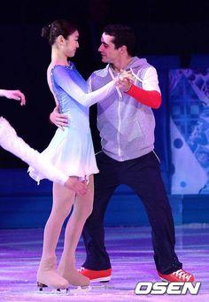 Yuna Kim & Javier Fernandez. How cute!