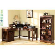 winsome studio 5 piece home office desk set - 99555 | office desks