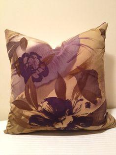 Floral 18x18 pillow cover Purple Lavender by PurpleMangoCreations, $24.00