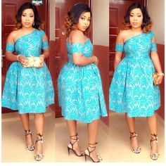 Face Glowing Lace Short Gowns for Fashionable Wedding Guests Latest African Fashion Dresses, African Dresses For Women, African Print Dresses, African Print Fashion, Africa Fashion, African Attire, African Wear, African Women, Chitenge Dresses