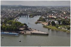 "KOBLENZ (GERMANY): The ""Deutsches Eck"" (German Corner) in Koblenz, at the confluence of Rhine and Moselle, owes its name to the Teutonic Order of Knights, who founded a settlement here in 1216."