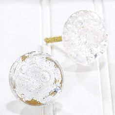Bubble Glass Knobs, Clear contemporary knobs