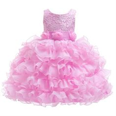 Berngi Baby Toddler Kids Dress for Party Wedding Girls Layered Tutu Cake Dress for Formal Occasions Prom Ball Gowns Dress Princess Dress Kids, Baby Girl Princess, Princess Birthday, Wedding Dresses With Flowers, Flower Dresses, Wedding Girl, Party Wedding, Dress Cake, Communion Dresses