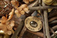Fireside Story - natural solid perfume locket. $42.00, via Etsy.