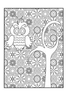 http://nounoulolo88.centerblog.net/ Hibou - Coloriage zen