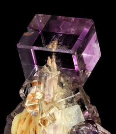 Amazing and unique shape Fluorite geology in