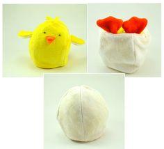 Reversible Chick Plush Toy by BrightLifeToys on Etsy, $28.00