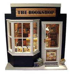 Hand Made miniature Book Shop made to order from www.mumandmeminiatures.com.au