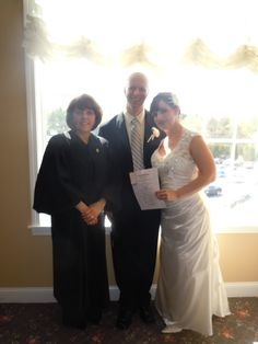 Me, with #Bride, Michelle, and #Groom, Mark.