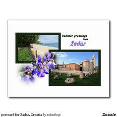 Postcard Kroatie Zadar,    Postcard design, briefkaart voor Zadar, Kroatië,  Photo, tourism, Europe, Croatia, Croatian, Adriatic sea, Adriatic , Mediterranean, Dalmatian, Dalmatia , Dalmatic , Dalmatië,  Zadar, vacation, travelling, journey, holiday, holidays, holiday, voyage, reizen, vakantie, Kroatie, postcard, postcards, design,  Originele postkaarten voor het Zadar in Kroatië met een heel nieuw design. Ook verkrijgbaar ZONDER TEKST zodat je ze kan personaliseren