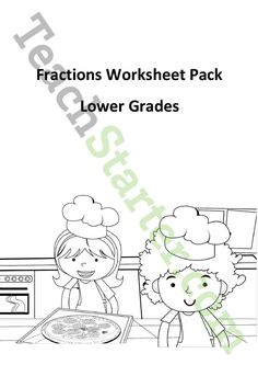 Teaching Resource: A worksheet pack to use when introducing the concept of fractions to lower primary. Teaching Fractions, Fractions Worksheets, Math Fractions, Teaching Math, Teaching Resources, Primary Teaching, Maths, Have Fun, Packing