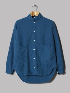 Tender Long Sleeve Tail Shirt (Woad Unfinished Box Cloth)