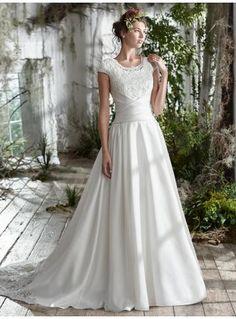 A-linie Traumhafte Schöne Brautkleider aus Satin mit Applikation