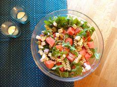 Edel's Mat & Vin : Vannmelonsalat med pasta og fetaost ♫♪