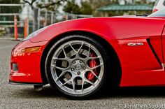 Chevrolet Corvette C6 Z06 Red HRE P40SC Brush Tinted by HRE Wheels,