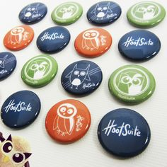 HootSuite Crafted Buttons | Six Cent Press