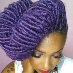black girl with colorful hair, colorful dreads, purple dreads, black womens inspiration