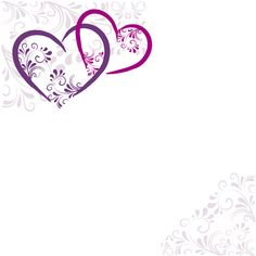Elegant heart with floral background vector 04