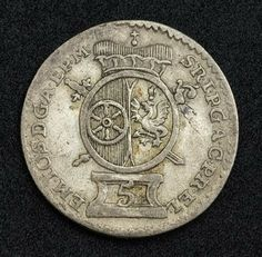 German States Coins 5 Kreuzer Silver coin of 1765, Mainz (Archbishopric). German Coins, Münzen Deutschland, German coinage, silbermünzen, German silver coins, Münzen aus Deutschland, Numismatic Collection, Münzen Deutsches Kaiserreich