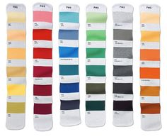 Pantone Color-Coded Scarves