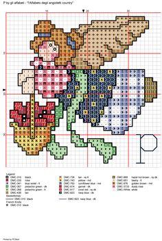 Alphabet Country Angel: p Stitch And Angel, Cross Stitch Angels, Cross Stitch Needles, Cross Stitch Heart, Cross Stitch Alphabet, Cross Stitching, Cross Stitch Embroidery, Stitch Toy, Cross Stitch Cushion