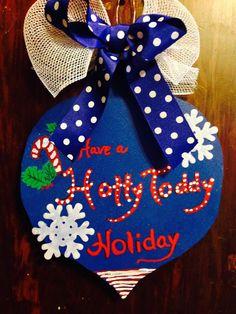 Ole Miss Christmas Ornament Door Hanger