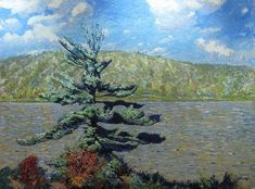 Garth Armstrong - Pine Lake 36 x 48 Oil on board Canadian Painters, Pine, Artwork, Painting, Board, Pine Tree, Work Of Art, Painting Art, Paintings
