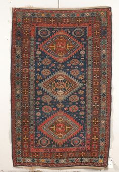 Kuba Rug Northeast Caucasus, last quarter 19th century, (small spots of wear, small edge repairs, black oxidation, small tear), 6 ft. 4 in. x 4 ft. (Price Realized $504)