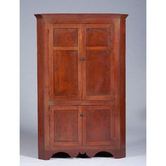 Lot: Cherry Corner Cupboard, Lot Number: 0482, Starting Bid: $350, Auctioneer: Cowan's Auctions, Inc., Auction: Fine and Decorative Art, Date: July 13th, 2013 EDT