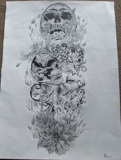 Skull and nature full sleeve by josephblacktattoos on DeviantArt