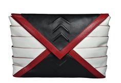 Riart-Fashion Athena Mini Handtasche, Schwarz/Weiß/Rot von RIARTFASHION auf Etsy