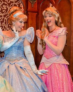 Cinderella and Sleeping Beauty Disney World Characters, Walt Disney Pictures, Disney Aesthetic, Princess Collection, Handsome Faces, Halloween Disfraces, Disney Costumes, Disney Dream, Disney Princesses
