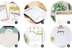 Imprimibles / Calendarios 2017