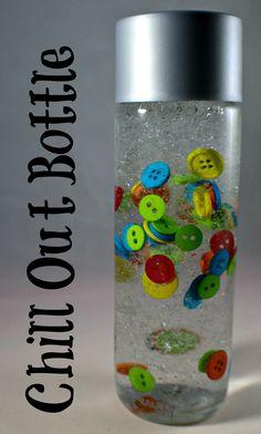 Sensory Calm Down Bottle buttons
