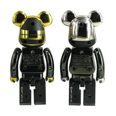 Made of die cast metal, this set of Bearbricks based on French EDM duo Daft Punk and the outfits featured on the cover of their fourth studio album, Random Access Memories, stand just under 6-inches tall. Figures are articulated at the neck, shoulder, waist, and hip.
