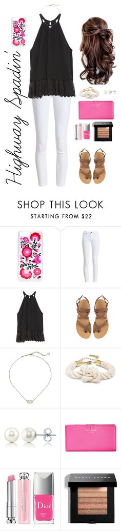 """""""Highway Spadin'"""" by mirandamf on Polyvore featuring Kate Spade, Barbour, OTTE, Valia Gabriel, Kendra Scott, BERRICLE, Christian Dior and Bobbi Brown Cosmetics"""