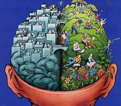 A fun illustration of left-brain and right brain!