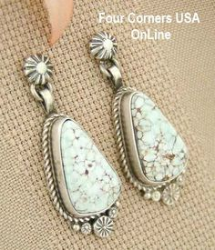 Four Corners USA Online - Teardrop Dry Creek Turquoise Sterling Post Earrings Navajo Artisan Shirley Henry Native American Jewelry NAER-1441, $189.00 (http://stores.fourcornersusaonline.com/teardrop-dry-creek-turquoise-sterling-post-earrings-navajo-artisan-shirley-henry-native-american-jewelry-naer-1441/)