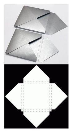 "box ""enveloppe"" More - Trends Pin Diy Gift Box, Diy Box, Gift Boxes, Paper Art, Paper Crafts, Foam Crafts, Papier Diy, Envelope Box, Origami Envelope"
