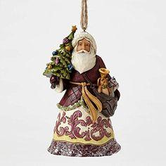 Jim Shore Heartwood Creek Victorian Santa with Tree Christmas Ornament