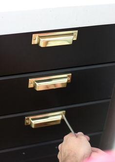 File Cabinet Bin Pulls