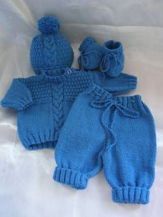 newborn baby boy going home outfit | Newborn Baby Boy Coming Home Sweater, Pants, Hat and Booties Outfit or ...
