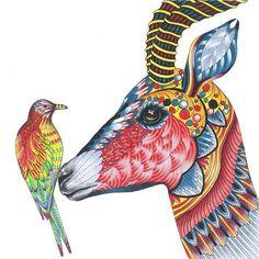 Do Livro Wild Savannah terceiro livro de @milliemarotta o colorido de Lindsey @minxymoocat  -------------------------------------------- Quer ver seu desenho aqui também?!  Envie por direct ✅ Marque o perfil ou pela #⃣reinoanimalolivro --------------------------------------------#reinoanimalolivro #wildsavannah #savanaselvagem #milliemarotta #livrosdecolorir #antiestresse #jardimsecreto #boanoite
