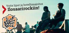"""Ilosaarirock Festival ...kiinnostaisiko voittaa kahden matka hotellimajoituksen kera? Jos vastauksesi on """"Hip hurraa!"""", klikkaa tästä: https://secure.emp.fi/com_2754_participate/?wt_mc=sm.pin.fp.ilosaarirockkisa.17062015"""