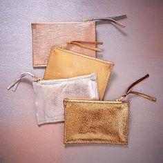 Leather Zipper Case - Small